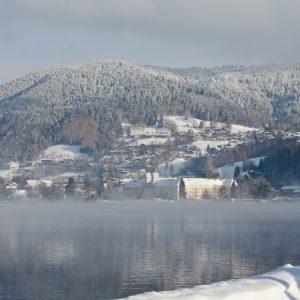 Das Schloss an einem eisigen Januarmorgen