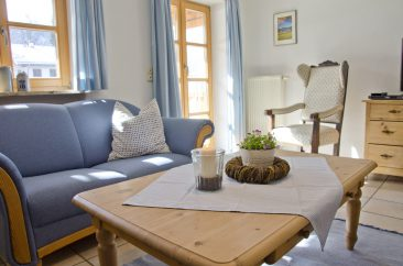 Blaue Wohnung 1 Sitzecke