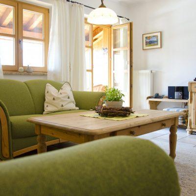 Grüne Wohnung Sitzecke